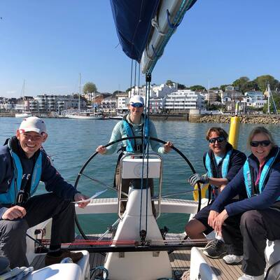 Leaving Cowes On The IOW